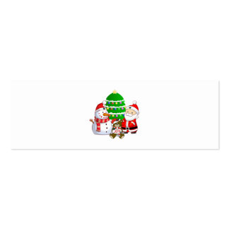 Santa Claus and Friends Business Card Templates