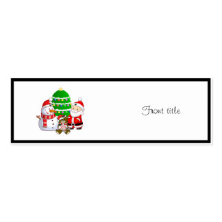 Santa Claus and Friends Business Card Template