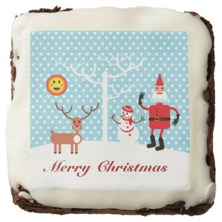 Santa Claus and friends Christmas treat Brownie
