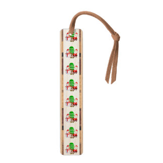 Santa Claus and Friends Maple Bookmark
