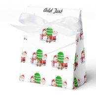 Santa Claus and Friends Party Favor Box