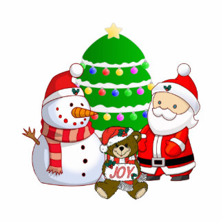 Santa Claus and Friends Photo Cut Outs