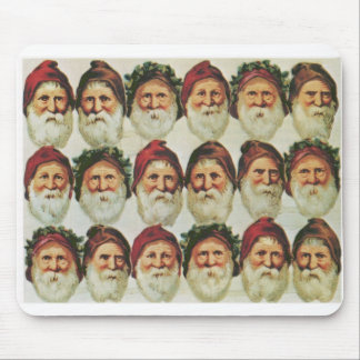 Santa Claus and His Bearded Friends Mouse Pad