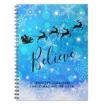 Santa Claus and his Flying Reindeer - Believe Notebook