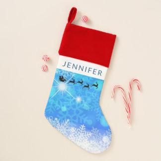 Santa Claus and his Flying Reindeer Christmas Christmas Stocking