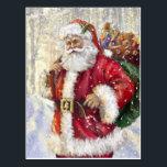 "Santa Claus and His Hood Postcard<br><div class=""desc"">Santa Claus and His Hood</div>"