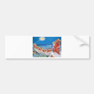 Santa Claus and his Mighty Reindeer Bumper Sticker