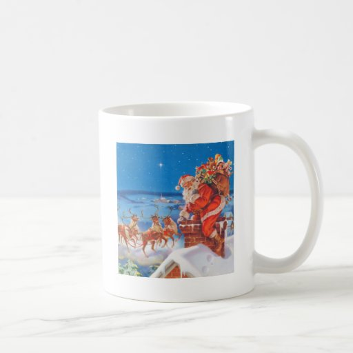 Santa Claus and his Mighty Reindeer Classic White Coffee Mug