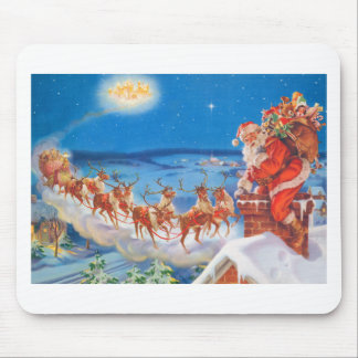 Santa Claus and his Mighty Reindeer Mouse Pad