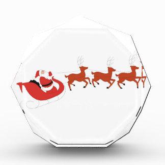Santa Claus and His Reindeer Acrylic Award
