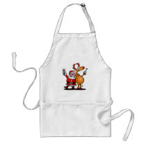 Santa Claus and his Reindeer Adult Apron