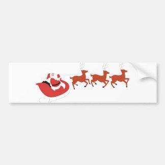 Santa Claus and His Reindeer Bumper Sticker