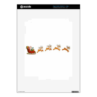 Santa Claus And His Reindeer Decal For The iPad 2