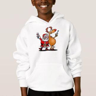 Santa Claus and his Reindeer Hoodie
