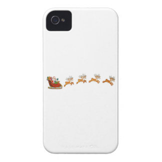 Santa Claus And His Reindeer iPhone 4 Cover