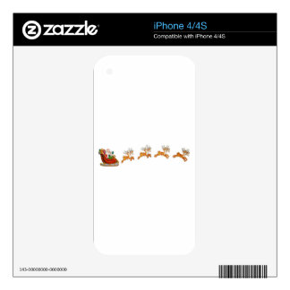 Santa Claus And His Reindeer iPhone 4 Skins