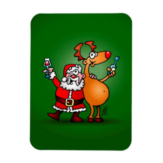 Santa Claus and his Reindeer Magnet