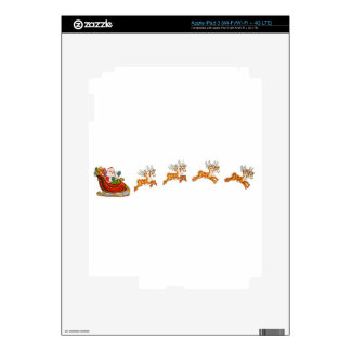 Santa Claus And His Reindeer Skin For iPad 3