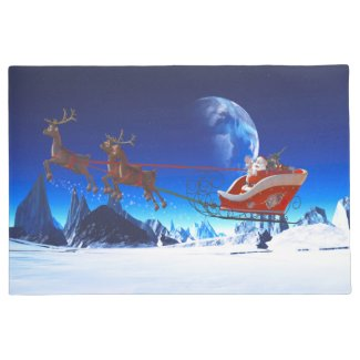 Santa Claus and his Reindeers 1 Doormat