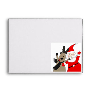 Santa Claus Envelopes of all Sizes - #10, #9, A7, A6, A2, Square ...