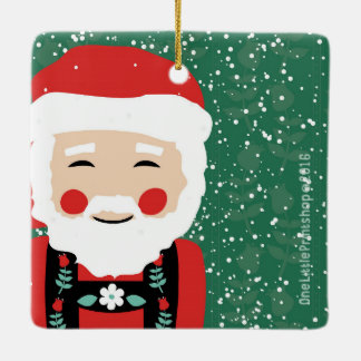Santa Claus and Mrs. Claus Christmas Ornament