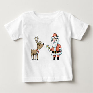 Santa Claus and Reindeer Baby T-Shirt