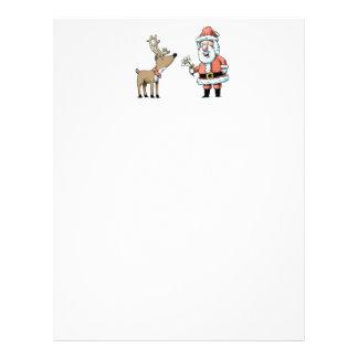 Santa Claus and Reindeer Letterhead