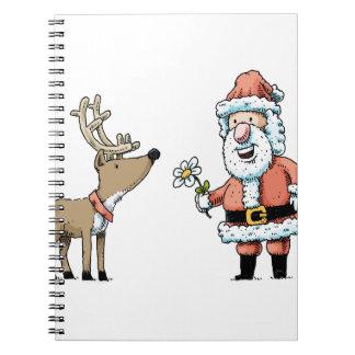 Santa Claus and Reindeer Notebook