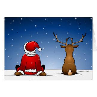 Santa Claus and Rudolph Card