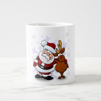 SANTA CLAUS AND RUDOLPH LARGE COFFEE MUG