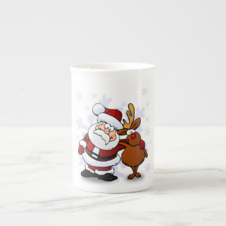 SANTA CLAUS AND RUDOLPH TEA CUP