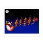 Santa Claus and Seahorse Sleigh Postcard
