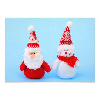 Santa Claus and snowman Card
