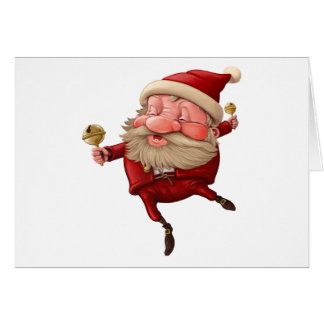 Santa claus and the bell's dancing card