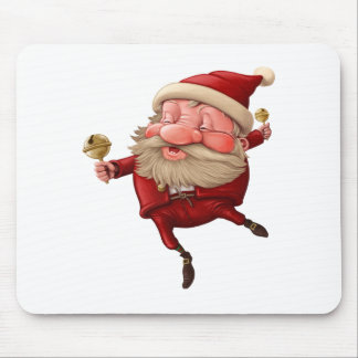 Santa claus and the bell's dancing mouse pad