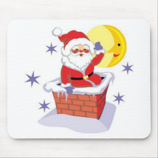 Santa Claus and the chimney Mousepads
