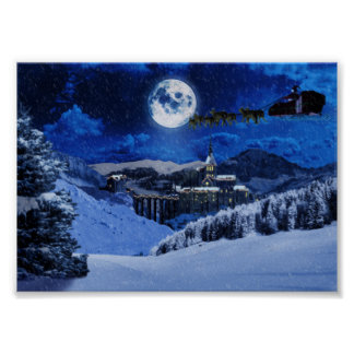Santa Claus and the North Pole Poster