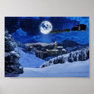 Santa Claus and the North Pole Print