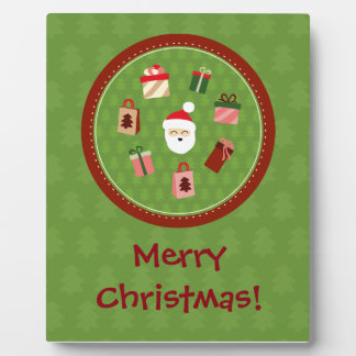 Santa Claus and the Presents Plaque