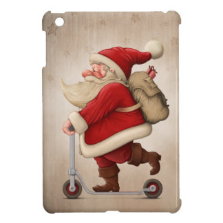 Santa Claus and the Push scooter Cover For The iPad Mini