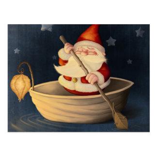 Santa Claus and walnut shell Postcard