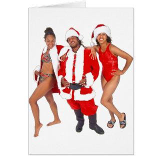 Santa Claus and women Card