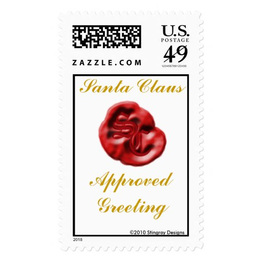 Santa Claus Approved Greeting stamp