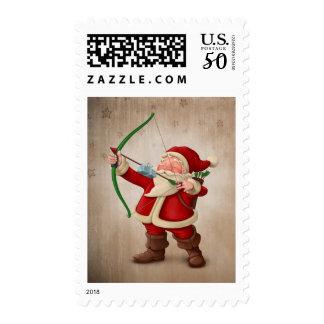 Santa Claus archer Postage