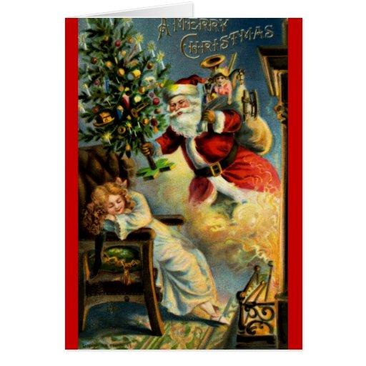 Santa Claus Arrives Card