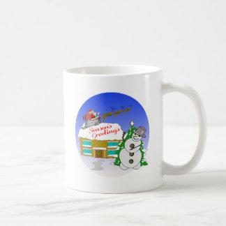 Santa Claus Arrives Coffee Mugs
