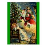 Santa Claus Arrives Postcard
