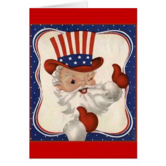 Santa Claus as Uncle Sam Greeting Card