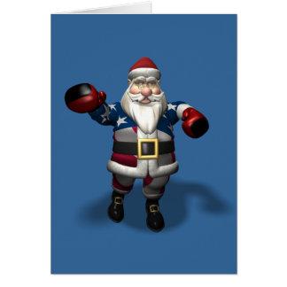 Santa Claus At Boxing Day Greeting Card