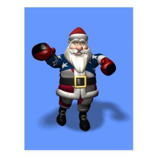 Santa Claus At Boxing Day Postcard